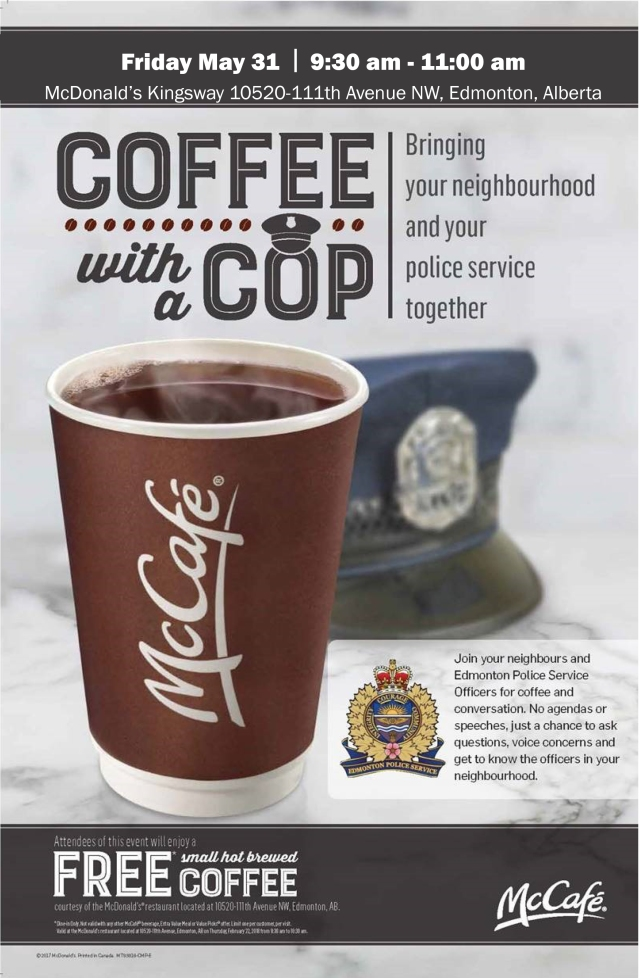 Coffee with a Cop May 31